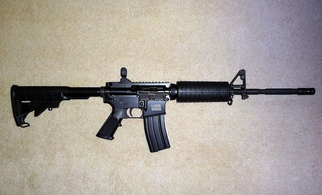 An AR-15-style assault rifle. (Photo courtesy of John Crowley.)