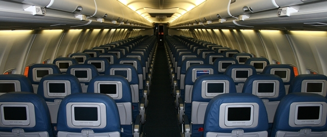 New interior on Delta Air Lines' Boeing 737-800 fleet. (Photo by Cweyer)