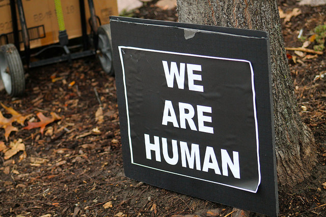 A popular slogan in Ferguson, but one that Scientologists would debate. (Photo: Bob Simpson)