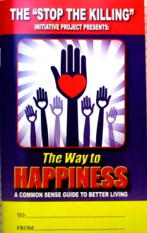 "The 75-page booklet ""The Way to Happiness, by L. Ron Hubbard. (Photo by author)"