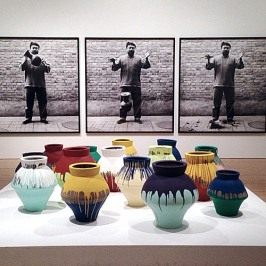 Ai Weiwei's urns at the Hirshhorn museum in Washington, D.C., 2012.